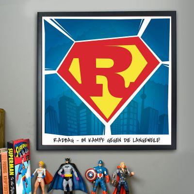 Geschenk zum Abschluss - Superman - Personalisierbares Poster