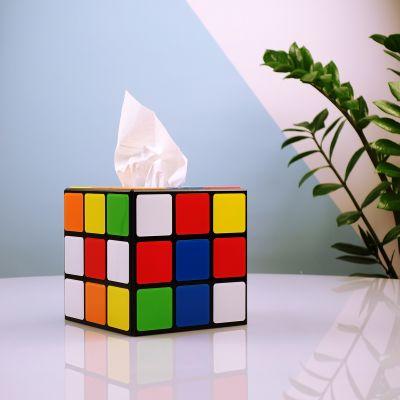 Deko - Rubiks Würfel Taschentuchbox aus Big Bang Theory