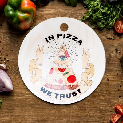 Schneidebrett - In Pizza We Trust Schneidebrett