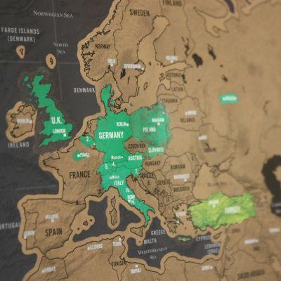 Ostergeschenke - Rubbel-Weltkarte Scratch Map Deluxe