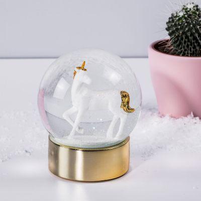 Geschenke für Kinder - Einhorn Schneekugel