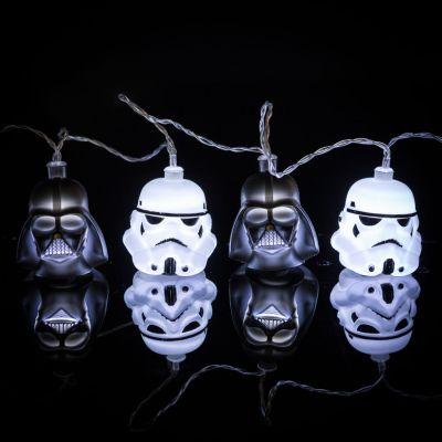 Beleuchtung - Star Wars Darth Vader & Stormtrooper Lichterkette