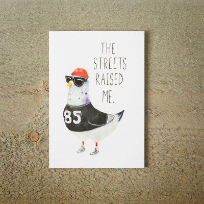 Karten - Grußkarte Street Pigeon