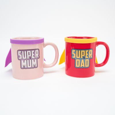 Neu bei uns - Super Mum & Super Dad Tasse
