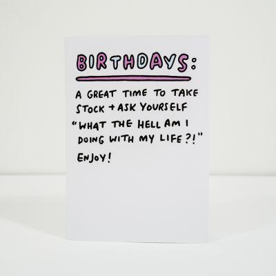 Karten - Geburtstagskarte Take Stock