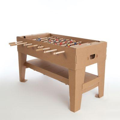 Geschenk zum Einzug - Tischfußball-Set aus Karton
