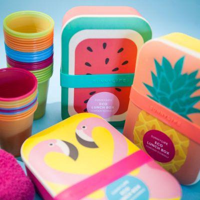 Geschenk für Freund - Fröhliche Öko-Lunchboxen