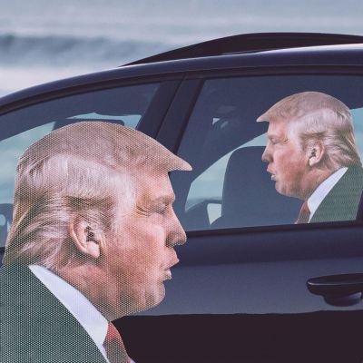 Deko - Autoaufkleber Trump