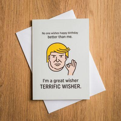 Geschenke für Schwester - Terrific Trump Geburtstagskarte