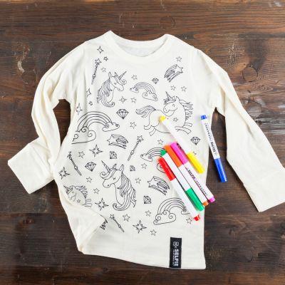 Einhorn Geschenke - Einhorn T-Shirt zum Selbst-Bemalen