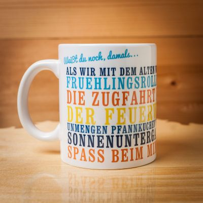 Geburtstagsgeschenke für Papa - Weißt du noch, damals... - Personalisierbare Tasse