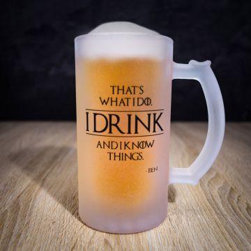 Personalisierbarer Bierkrug I Know Things