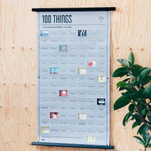 Poster 100 Dinge, die du in deinem Leben noch machen musst