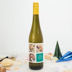 Personalisierbarer Wein mit 3 Bilder und Text