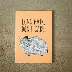 Grußkarte Long Hair