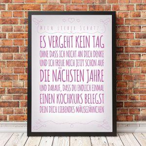 Personalisierbares Poster für deine Lieben