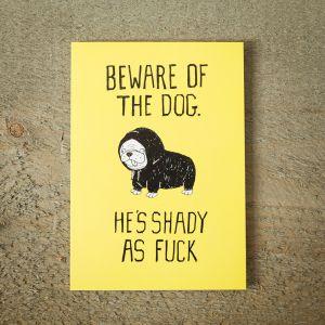 Grußkarte Shady Dog