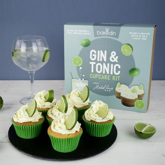 Gin Tonic Cupcake Set