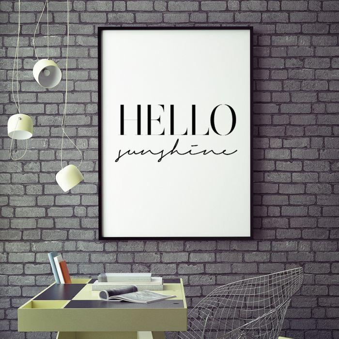 Poster Hello Sunshine by MottosPrint