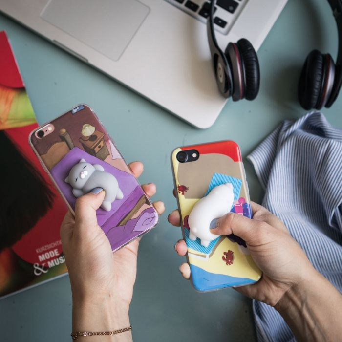Tierchen zum Drücken mit Hülle fürs iPhone
