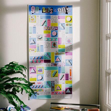 Rubbel-Poster 90 Tage in den Neunzigern