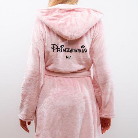 Personalisierbarer Bademantel Prinzessin