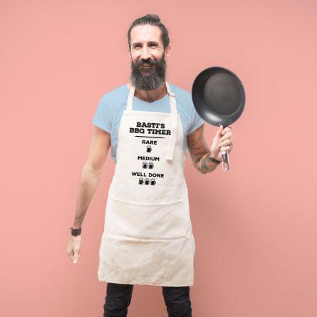 Personalisierbare Küchenschürze für Grillmeister