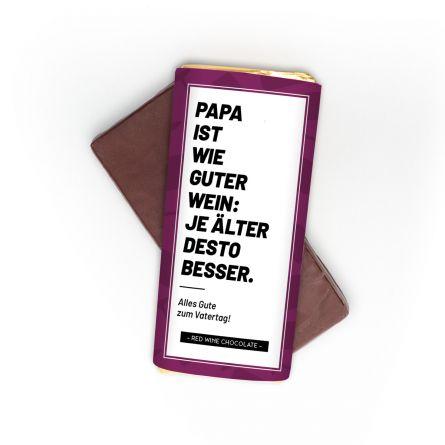 Personalisierbare Rotwein Schokolade