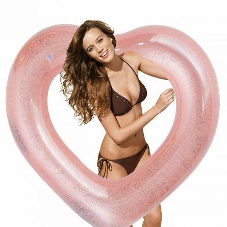 Herz Schwimmreifen mit Glitzer