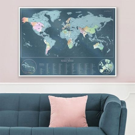 Irisierende Rubbel-Weltkarte