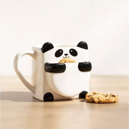 Panda Tasse mit Keks-Fach