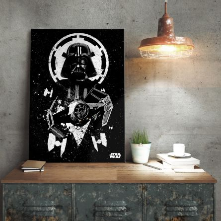 Star Wars Metallposter - Vader Tie Fighter