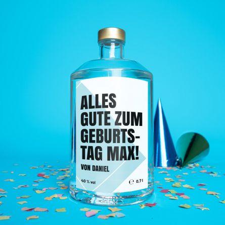 Personalisierbarer Wodka mit Text
