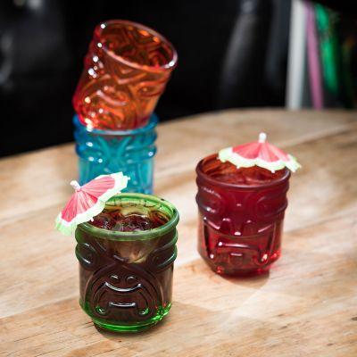 Farbige Tiki Cocktailgläser 4er Set