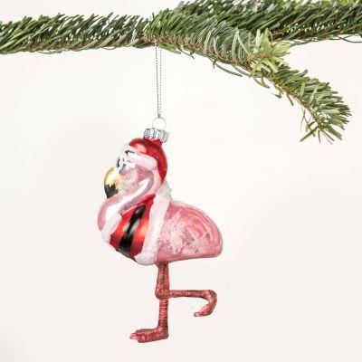 Weihnachtsdeko - Mr. Flamingo Christbaumschmuck