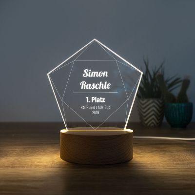 Geschenke mit Gravur - LED-Leuchte mit Stern