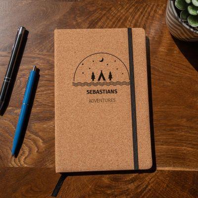Personalisierbares Abenteuer Kork Notizbuch