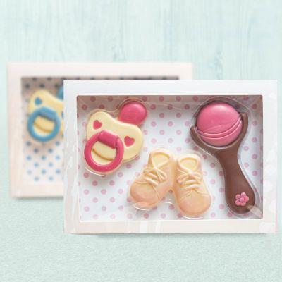 Essen & Trinken - Baby-Sets aus Schokolade