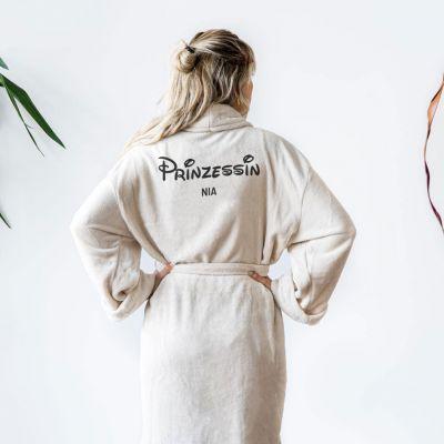 Geburtstagsgeschenke für Frauen - Personalisierbarer Bademantel Prinzessin