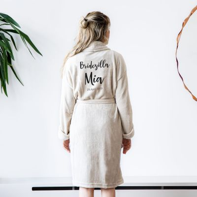 Homewear - Personalisierbarer Bademantel mit Name