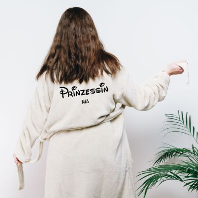 Homewear - Personalisierbarer Bademantel Prinzessin