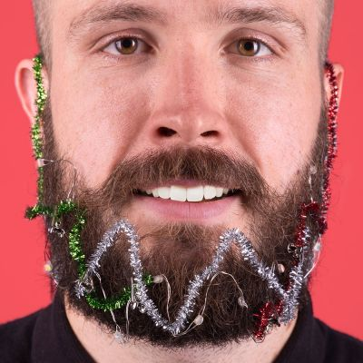 Accessoires - Weihnachts-Licht-Girlande für den Bart