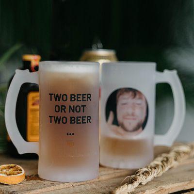 Biergeschenke - Bierkrug mit Foto und Text