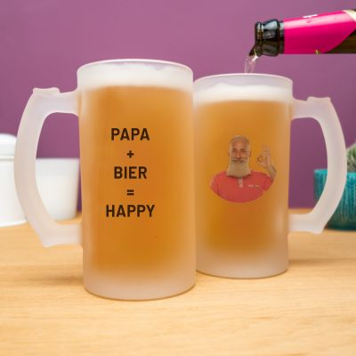 Tassen & Gläser - Personalisierbarer Bierkrug mit Foto und Text