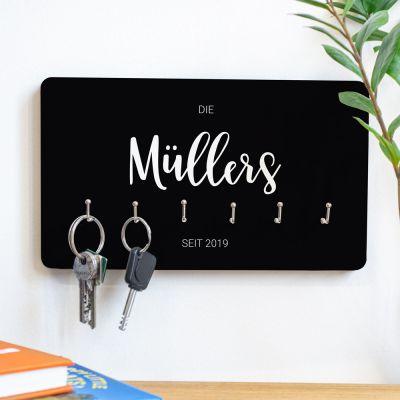 Geschenke für Eltern - Personalisierbares Schlüsselbrett mit Namen