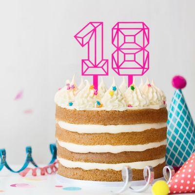 Geburtstagsgeschenk zum 30. - Cake Topper in Zahlenform