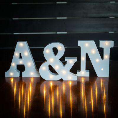 Hochzeitstag Geschenk - Beleuchtete Holz-Buchstaben