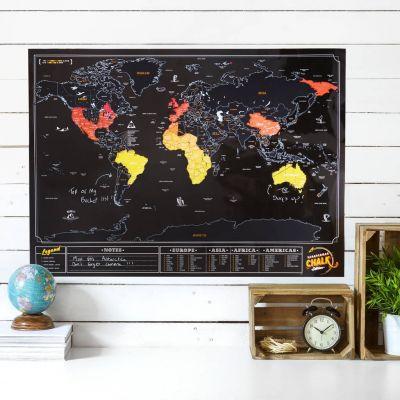 Abschiedsgeschenk - Rubbel-Weltkarte Tafel