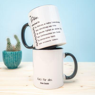 Abschiedsgeschenk - Personalisierbare Tasse Checkliste