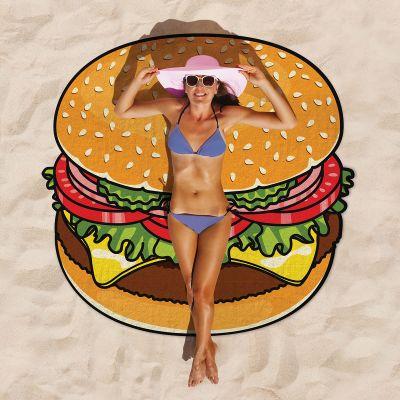 Draußen - Cheeseburger Strandtuch
